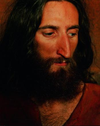 Senza titolo (Cristo), 2009 (da Storie della Bibbia) c-print, cm 127x100