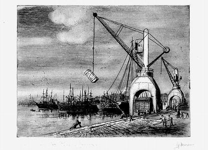 Giuseppe Moreno, Macine idrauliche porto di Genova, 1932