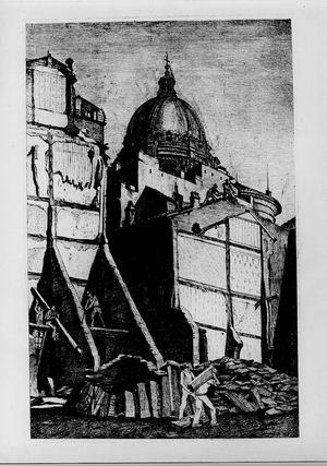 Antonio Achilli, Demolizioni intorno all'Augusteo, 1938