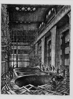 Guido Balsamo Stella, Officine montaggio torri Ferrobeton - Ansaldo, 1938