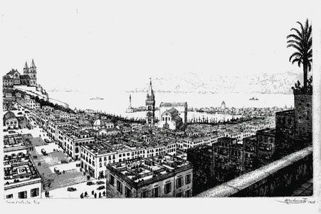 Antonio Carbonati, Panorama dal Noviziato (Messina), 1935 dalla serie MESSINA