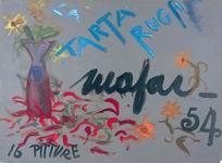 """Mafai 1954 olio e inchiostro su cartoncino dalla raccolta dei """"Cartelli"""" della galleria La Tartaruga"""