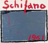 """Schifano, 1961 smalto e collage su carta dalla raccolta dei """"Cartelli"""" della galleria La Tartaruga"""
