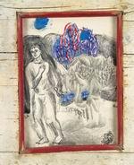 Sandro Chia Bianco e nero disperati, 2001 carboncino e biacca su carta