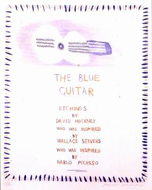 David Hocney, The blue guitar (La chitarra blu) 1976-1977
