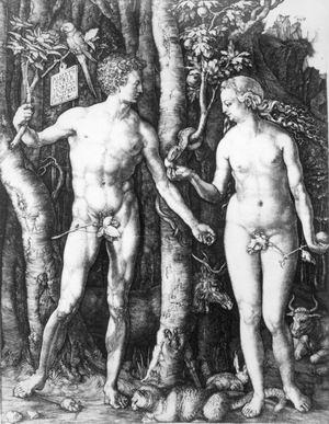 lbrecht Dürer Adamo ed Eva, 1504, bulino Roma, Istituto Nazionale per la Grafica