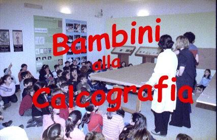 bambini alla calcografia