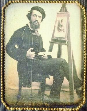 Antonio Sorgato, Autoritratto al cavalletto, post 1847  (Venezia, Collezione Ferruzzi Balbi)
