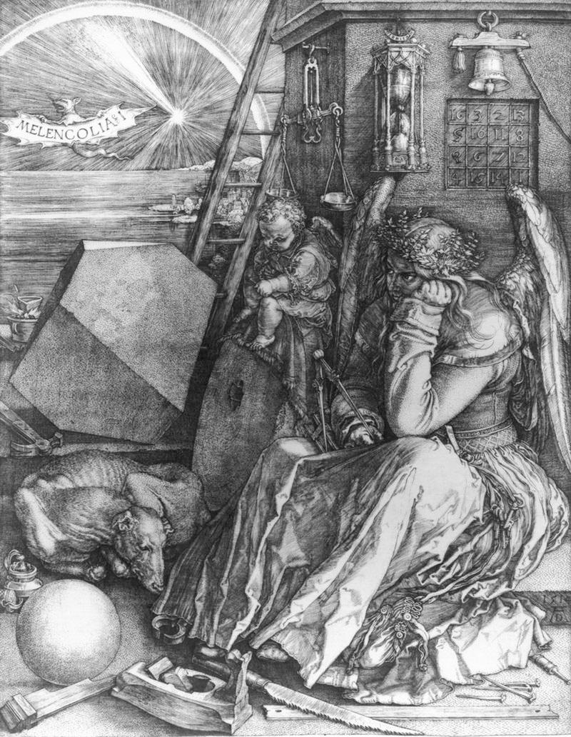 Albrecht Dürer Melencolia I,1514 bulino Roma, Istituto Nazionale per la Grafica