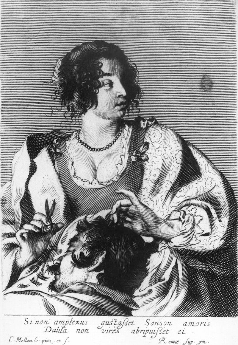 Claude Mellan Sansone e Dalila,1629 bulino Roma, Istituto Nazionale per la Grafica