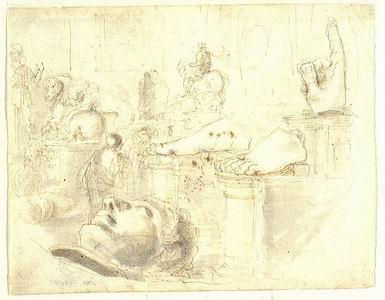 Giovanni Francesco Barbieri detto il Guercino (Cento 1591 - Bologna 1666) Martirio di san Giacomo il Grande Penna, inchiostro bruno acquarellato su carta bianca
