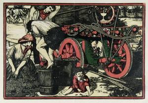Francesco Nonni  Mosto, 1913 xilografia a 4 legni