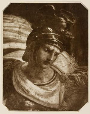 Cacciata di Eliodoro particolare, 1869 stampa al carbone,  mm 280x222 Roma, ING