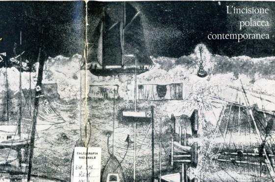 1961 Incisione Polacca contemporanea