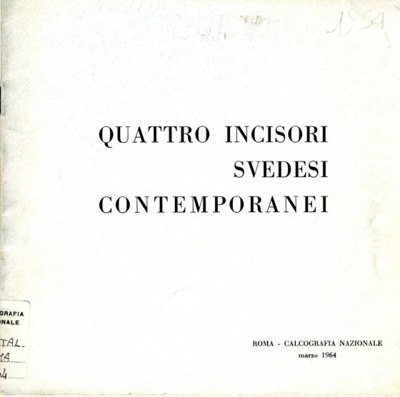 1964 Quattro incisori svedesi