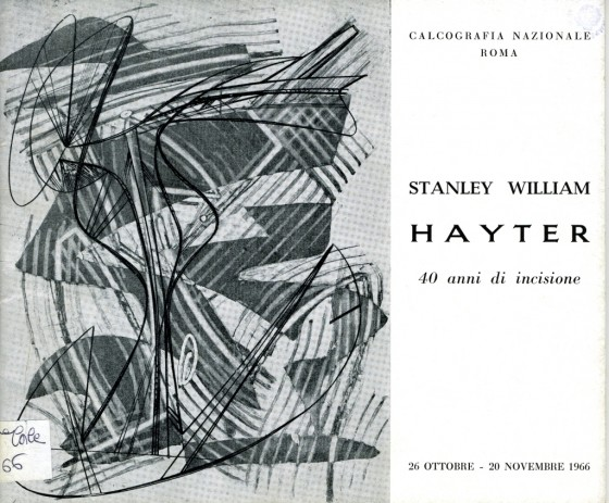 1966 Stanley William Hayter. 40 anni di incisione