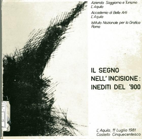 1981 Il segno nell'incisione