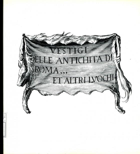 1987 Vestigi delle antichità di Roma et altri luochi