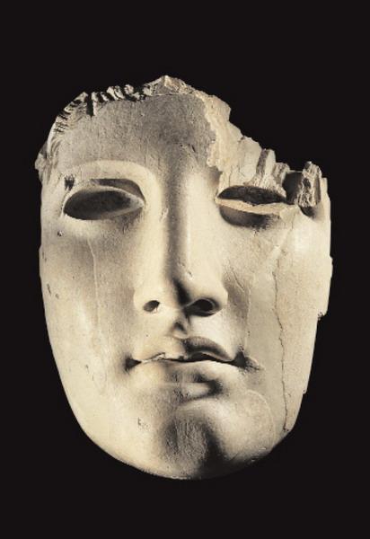 Frammento di volto di statua in avorio Seconda metà del I secolo a.C