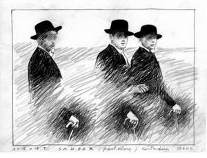 August Sander (Particolare) Contadini 1920, 2006 stampa al plotter, true black fine art Giclée su carta Hahnemulhe,  mm 800 x 600 proprietà Mario Cresci