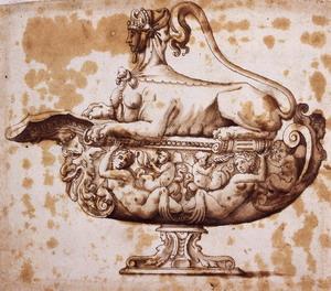 F.Salviati - Studio di coppa con coperchio
