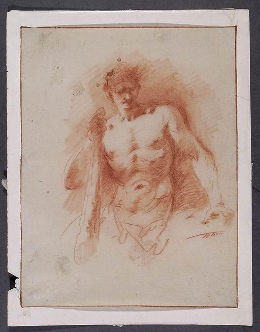 Giuseppe Bernardino Bison (Palmanova, Udine 1762 - Milano 1844) Ercole  sanguigna