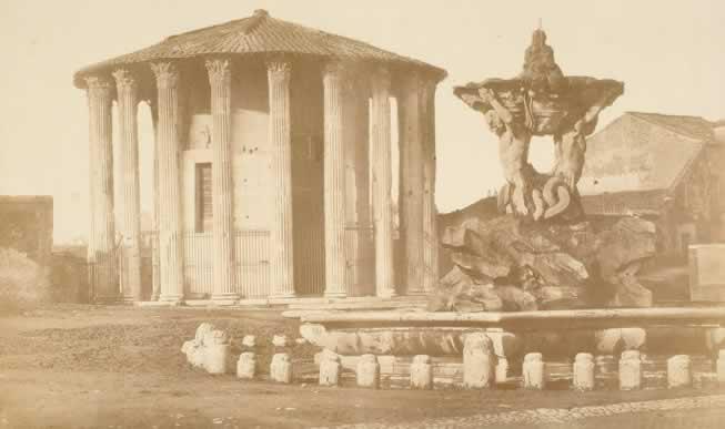 Robert Macpherson, Tempio di Vesta, 1852-1853, carta salata albuminata