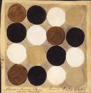 Tessuto simultaneo n.65, 1925 Gouache su carta Courtesy Fondazione Marconi, Milano