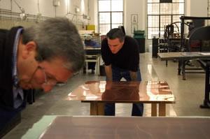 Paolo Canevari e Antonio Sannino nella stamperia dell'Istituto Nazionale per la Grafica foto Ariel Genovese
