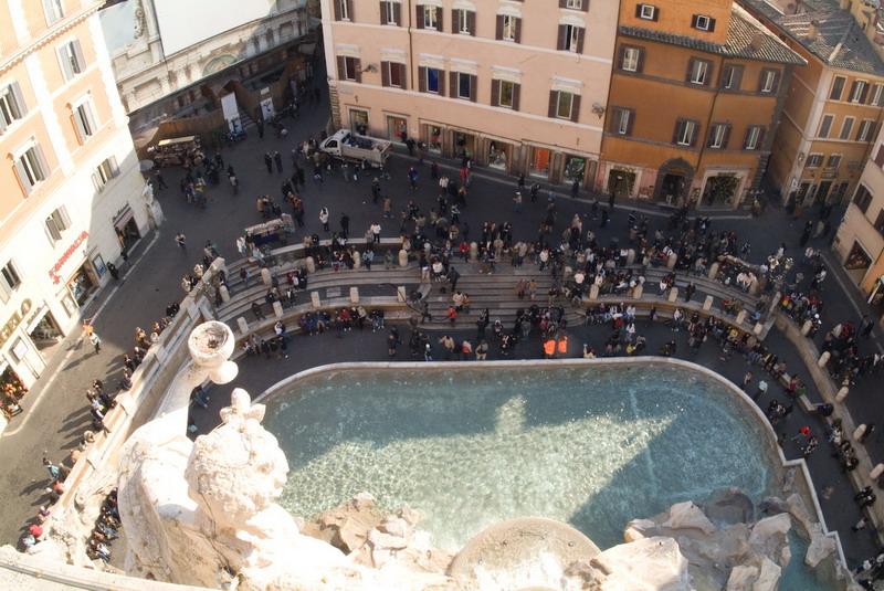veduta dall'attico di Palazzo Poli (fotografie di Giovanni De Angelis)