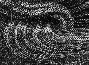 Senza titolo, 1975 stampa ai pigmenti di carbone su carta di puro cotone da macrofoto di pellicola meccanografica,  mm 300x400