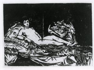 douard Manet (Parigi 1832 - 1883)  Olimpia, 1863 acquaforte
