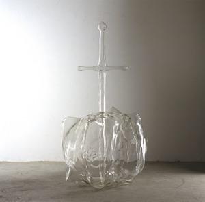 Liliana Moro La spada nella roccia, 1998 Scultura di vetro