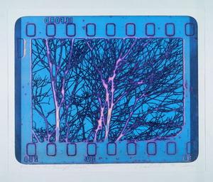 Paesaggio colorato, 1966 (2007) acquaforte fotografica a colori simultanei, mm 412x505 (700x1000)