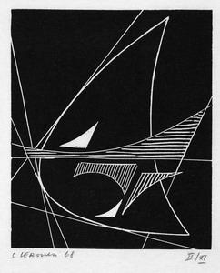 senza titolo, 1968 xilografia, mm 120x100 (190x123)