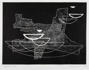 Costruzione 41, 1966 xilografia, mm 290x385 (437x627)