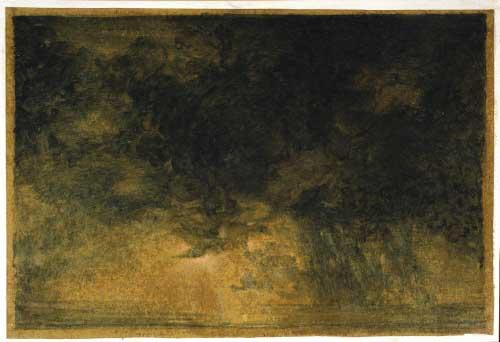 La grande bourrasque, 1990 - acquerello su carta - Coll. Satta Filippo