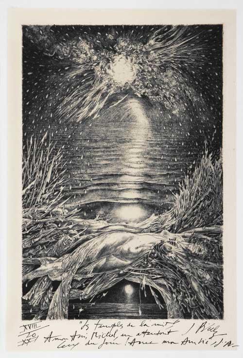 Les temples de la nuit, 1979 - acquaforte e bulino