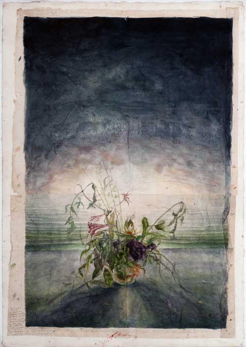 Pirouette, 1983 - acquerello su carta - Coll. Sette Daniele
