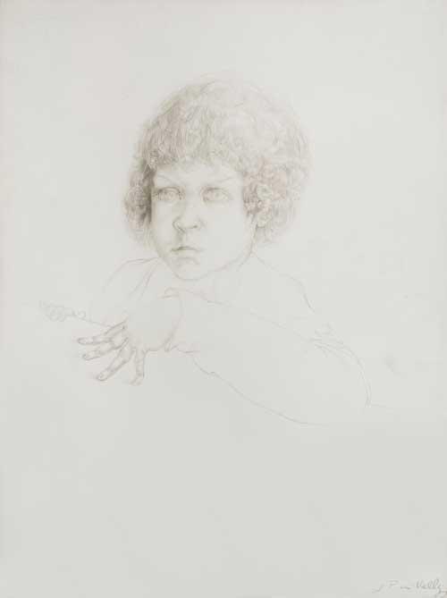 Arthur, 1972 - punta d'argento su carta preparata
