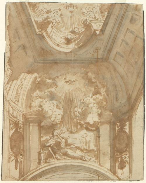 HENDRIK FRANS VERBRUGGHEN (Anversa 1654 - Anversa 1724) Progetto per l'altare e la decorazione della Chiesa dei Gesuiti a Utrecht