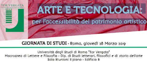 Giornata di studi 'Arte e tecnologia: per l'accessibilità al patrimonio culturale'