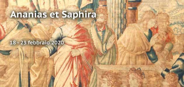 'Ananias et Saphira'. Raphael invenit