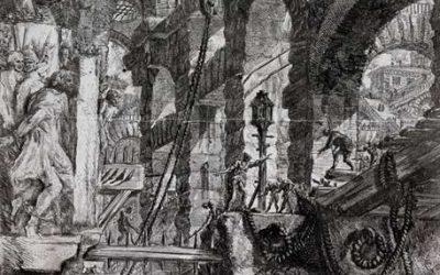 Archi e volte con altorilievi di leoni (Carceri d'invenzione)